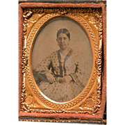 SALE Tin Type Photo of Woman Great Picture for Doll House or Collector