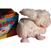 SALE Wind Up Bunny Rabbit with Fur Toy In Box Excellent Condition