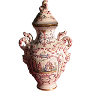SALE French Covered Urn Jar Old Mark French Country Ceramic