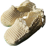 SOLD Baby Doll Shoes Vintage Excellent Condition Hand Made Crochet
