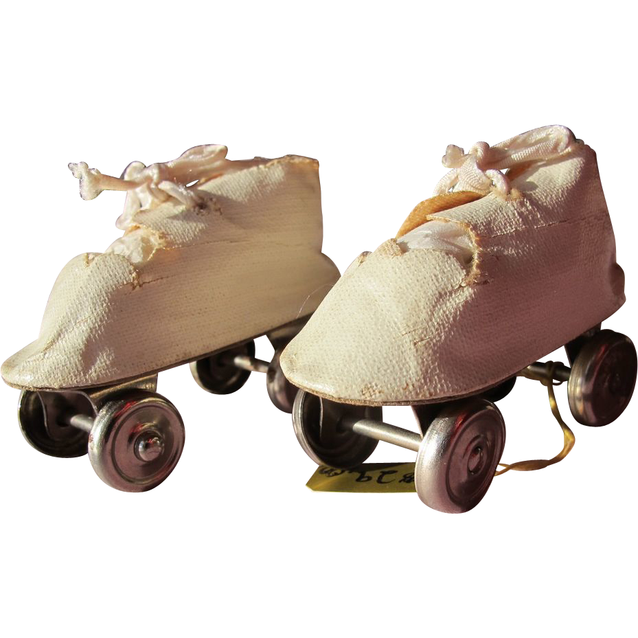 Doll Roller Skates Oil Cloth and Leather Vintage from ...