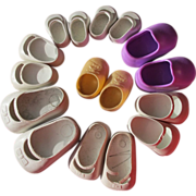 SOLD Doll Shoes Vintage Rubber Doll Shoes Different Sizes Eight Pairs