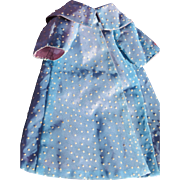 SALE Doll Coat of  Polka Dotted Swiss Fabric Lined