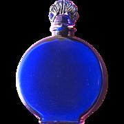 SALE Perfume Bottle by Lucretia Vanderbilt Blue Glass