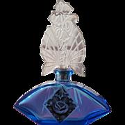 SALE Czechoslovakian Perfume Bottle 1920 Blue Glass Karl Palda Marriage