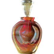 SALE Perfume Bottle by Correia Art Glass in Multi Colors Signed Numbered Dated