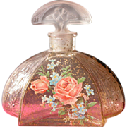 SOLD Glass Perfume Bottle with Frosted Glass Stopper