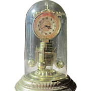 SOLD Novelty Perfume Bottle Looks Like Mantle Clock in Case  Ansehl Company