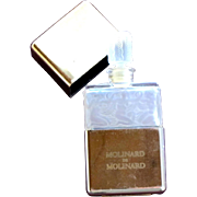 SALE Molinard Perfume Bottle Vintage Frosted Glass with Nudes 1980