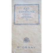 SALE Perfume Bottle Boxed D'Orsay Ambree Eau de Cologne