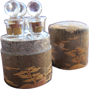SALE Boxed Perfume Bottles by Vantines in Wood Box