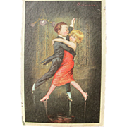 SALE Post Card with Young Children Dancing