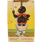 SALE Black Americana Post Card Humorous Fun Great Condition