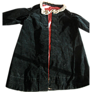 SALE Victorian Doll Coat in Black Velvet