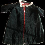 SALE Victorian Doll Coat in Black Velvet
