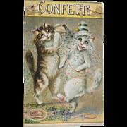 SALE Post Card Funny Cats Artist Signed Maurice Boulanger Tucks