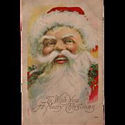 SOLD Santa Post Card 1921 Made in USA