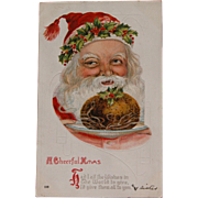 SOLD Santa Post Card Christmas Embossed 1917 - Red Tag Sale Item