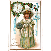 SALE Post Card by Illustrator Frances Brundage for the New Year Tucks