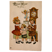 SOLD New Year Post Card Unused
