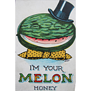 SALE Post Card Dressed Melon Artist Signed