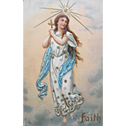 SALE Post Card with Angel of Faith