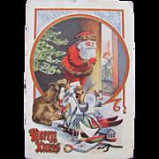 SOLD Santa Post Card Merry Xmas 1910