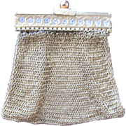 SALE Small Mesh Purse with Rhinestone Germany Doll Purse