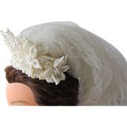 SALE Vintage Wedding Veil Tiara Head Dress for Bride