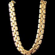 SALE Napier Necklace Gold Metal Chain