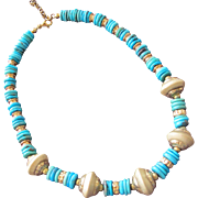 SALE Authentic Turquoise Necklace Sterling Silver Beads Italian Made