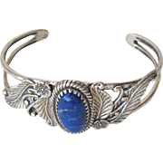 SALE Sterling Silver Lapis Bracelet Mexico 925 Indian Jewelry