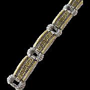 SALE Vintage Bracelet with Greek Motif