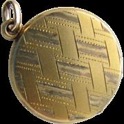 SALE Vintage Locket Pendant 14K Gold Filled