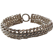 Sterling Silver Bracelet Wide Interlocked Chains from Turkey