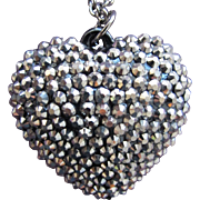 SALE Heart Steel Beaded Necklace 31 Inches Park Lane