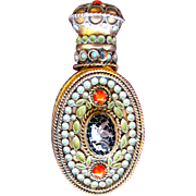 SALE PENDING Chatelaine Perfume Bottle Micro Mosaic Bird Made in France