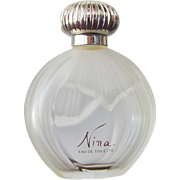 SALE Nina Ricci Perfume Bottle Frosted Glass