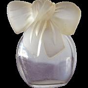SALE Perfume Bottle Albert Nippon Designer All Glass Bow Stopper Small