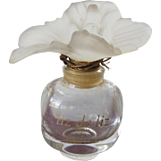 SALE Flowered Perfume Bottle Made in France Liz de Liz Rare and Hard to Find
