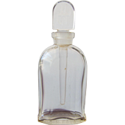 SALE Jean Patou Perfume Bottle with Long Glass Dauber on Logo Glass Stopper