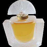 SALE Vintage Perfume Bottle Lalique Chevrefeulle Crystal Factice Parfum Perfume Display Bottle