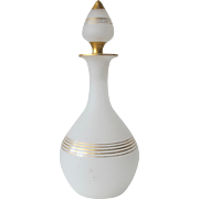 SALE Antique French Scent Bottle of White Opaline Glass 1850-1880