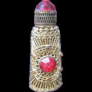 SALE Jeweled Perfume Bottle Czechoslovakian Mini Purse Perfume Red
