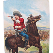 SALE Post Card of Cowboy on Horse 1908 Germany Embossed Unused