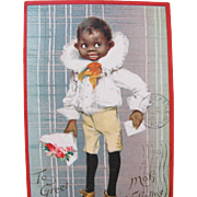 SOLD Valentine's Day Post Card Artist Frances Brundage Tucks Black Americana 1908