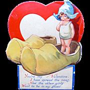 SALE Vintage Valentine's Day Card Darling Dutch Girl by Twelvetrees