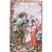 SOLD Valentine's Day Post Card Frances Brundage Illustrator