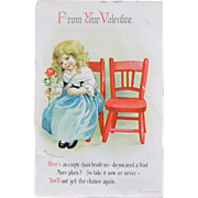 SALE Vintage Valentine's Day Cards by Ellen Clapsaddlel