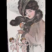 SALE Rare Valentine's Day Card Signed Sadie Wendell Mitchell